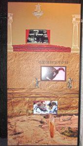 Historik vägg Biograf Kinesisk skuggspel Grottmålning